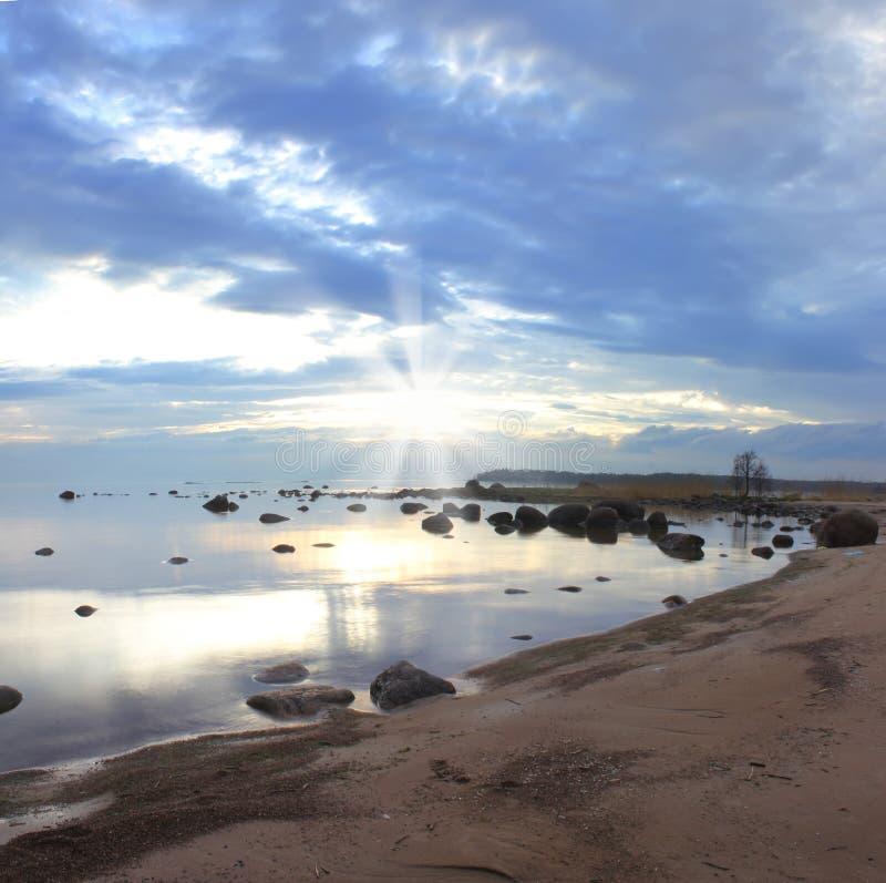 De golf van Finland, Rusland stock fotografie