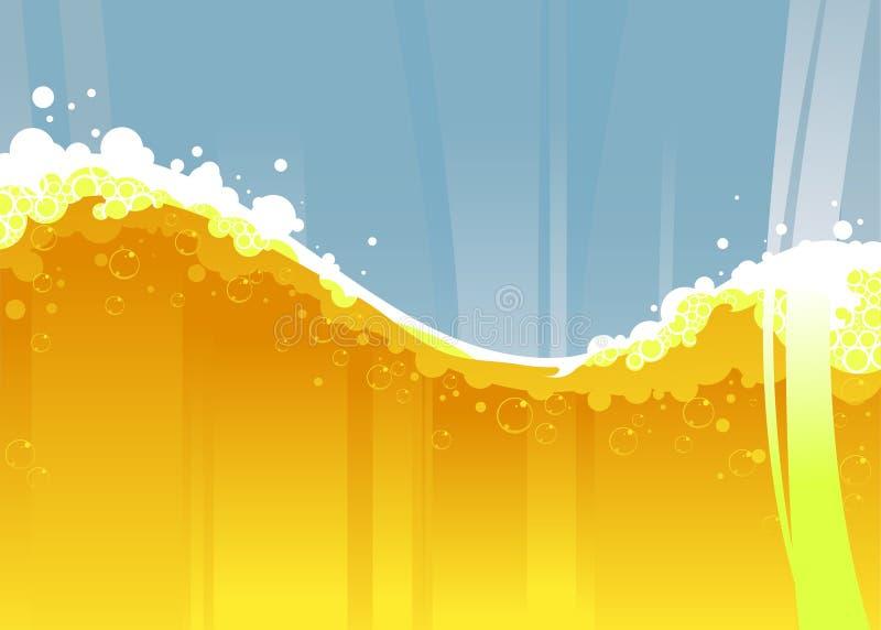 De golf van het bier stock illustratie