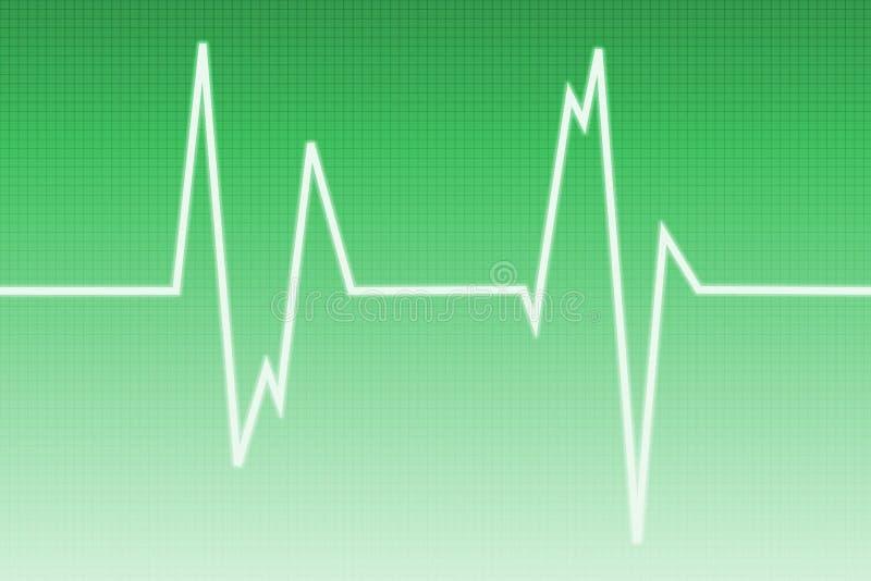De golf van het cardiogram - radiogolf royalty-vrije illustratie