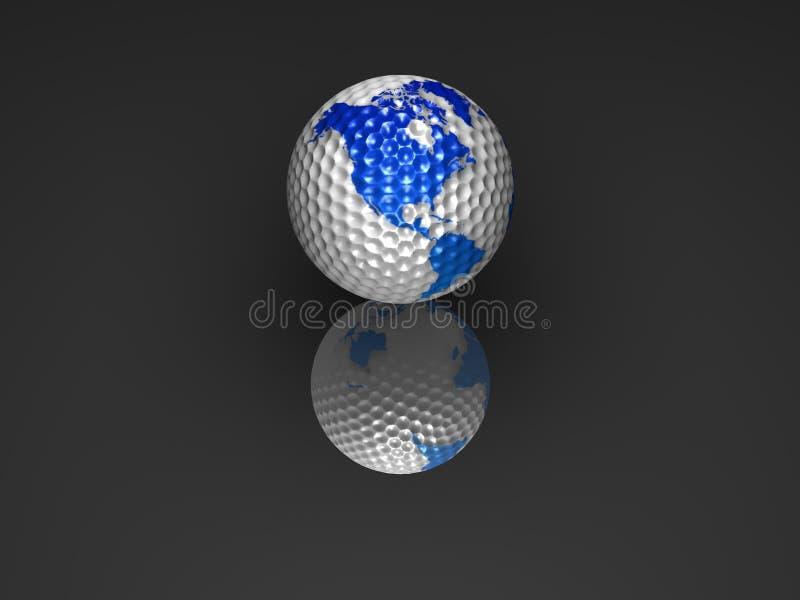 De golfbal van de bol stock illustratie