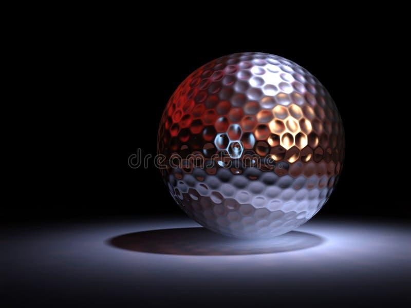 De golfbal van het chromaat stock illustratie