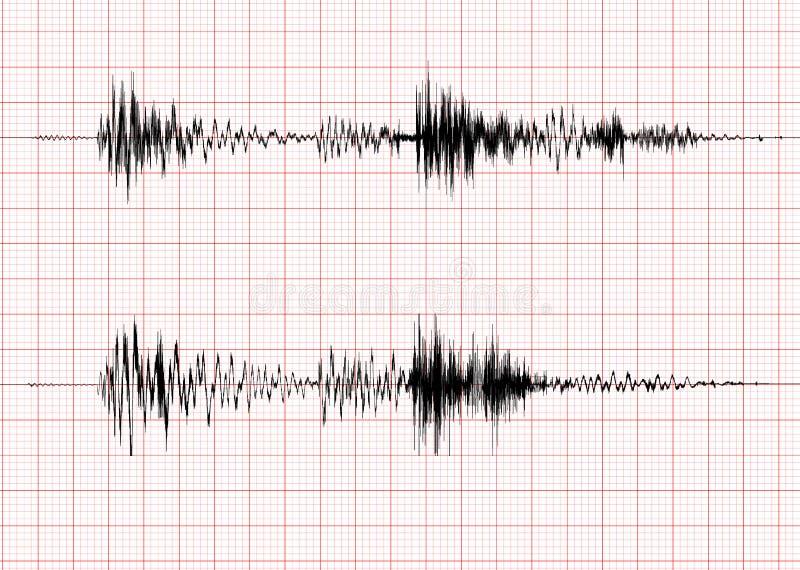De golfgrafiek van de aardbeving royalty-vrije illustratie