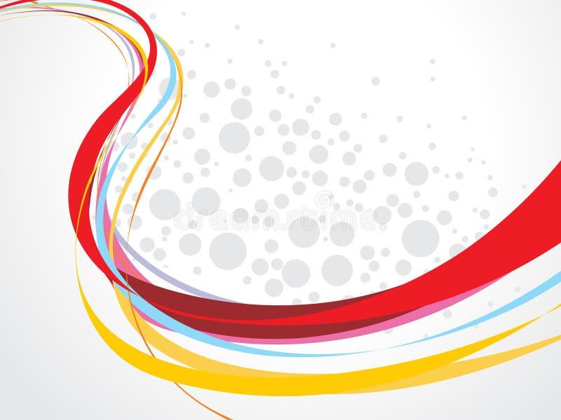 De golflijn van de regenboog vector illustratie