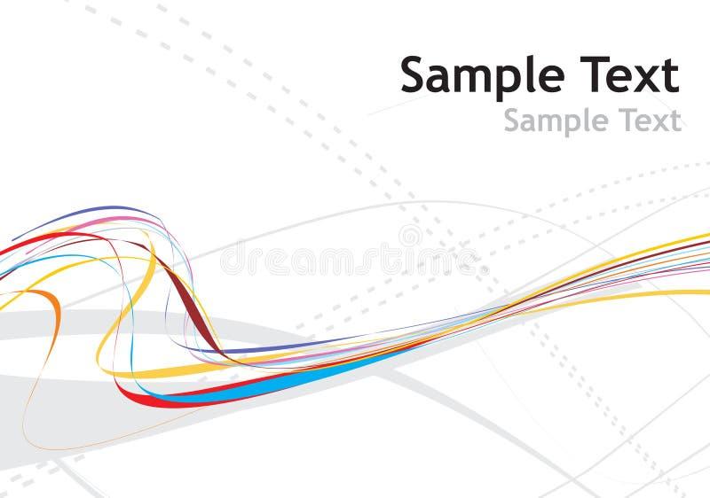 De golflijn van de regenboog stock illustratie