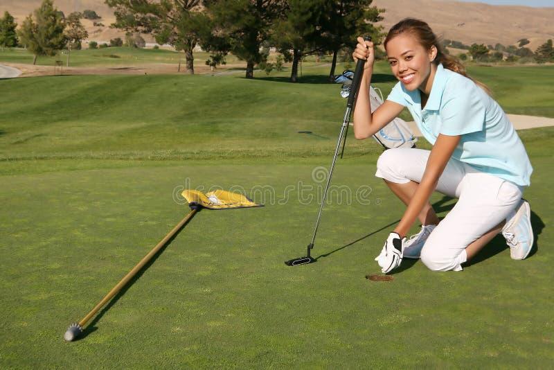 De Golfspeler van de vrouw royalty-vrije stock foto