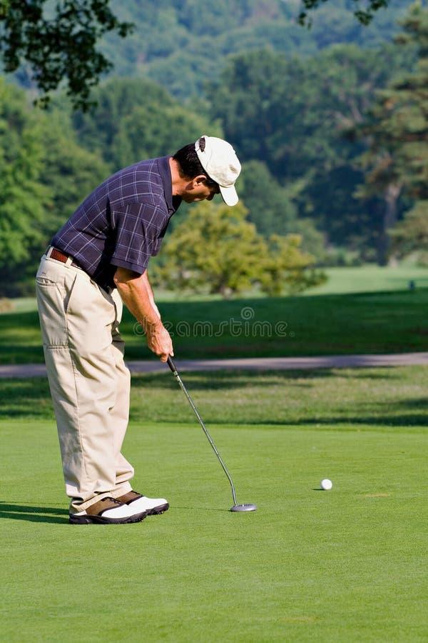 De Golfspeler van de zomer royalty-vrije stock afbeeldingen