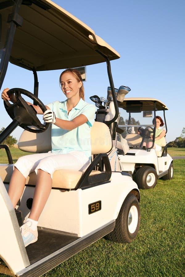 De Golfspelers van vrouwen royalty-vrije stock foto