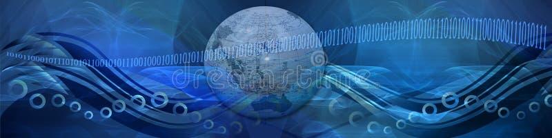 De golven en de aanslutingen van Internet stock illustratie