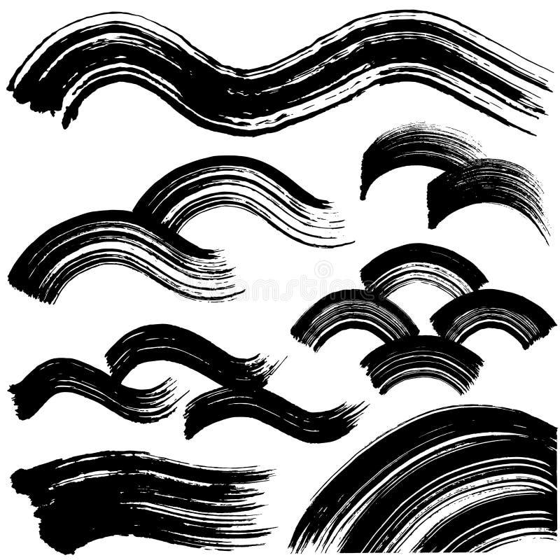 De golven van de borstelslag royalty-vrije illustratie