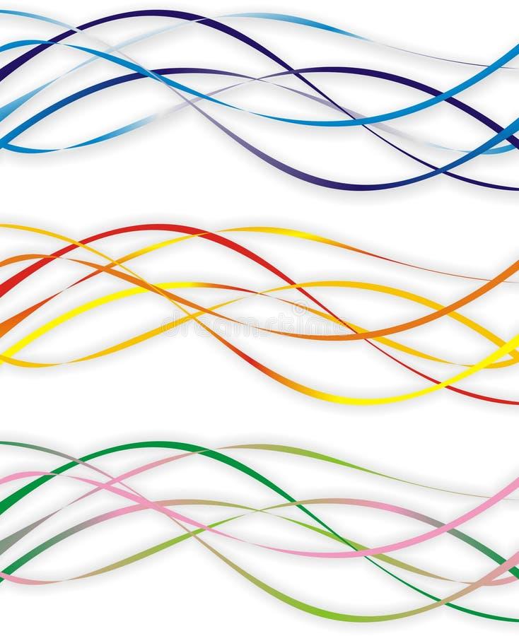 De golven van de kleur stock illustratie