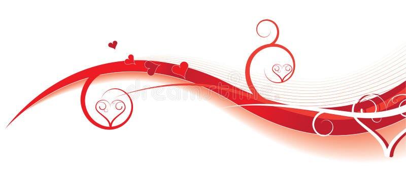 De golven van de valentijnskaart vector illustratie