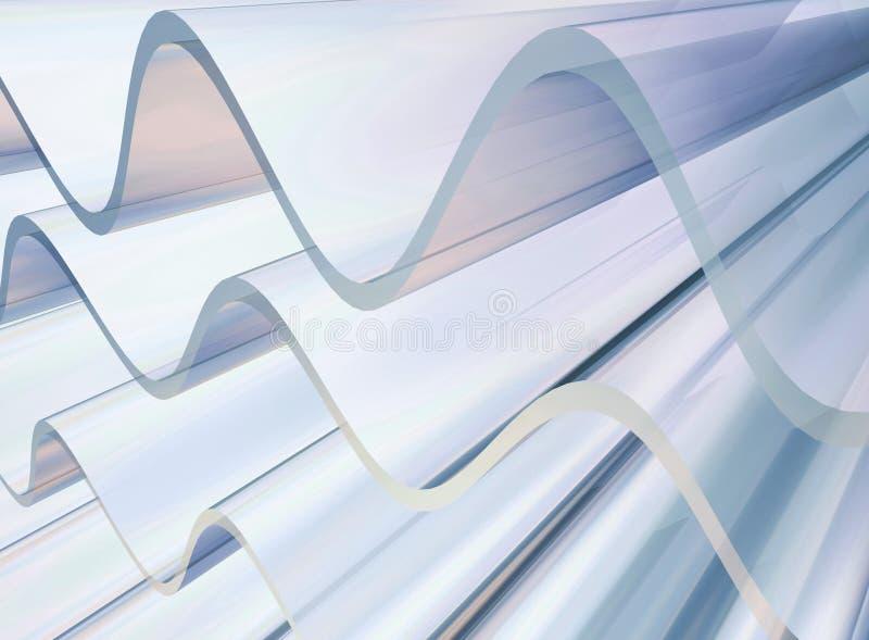 De golven van het platina vector illustratie