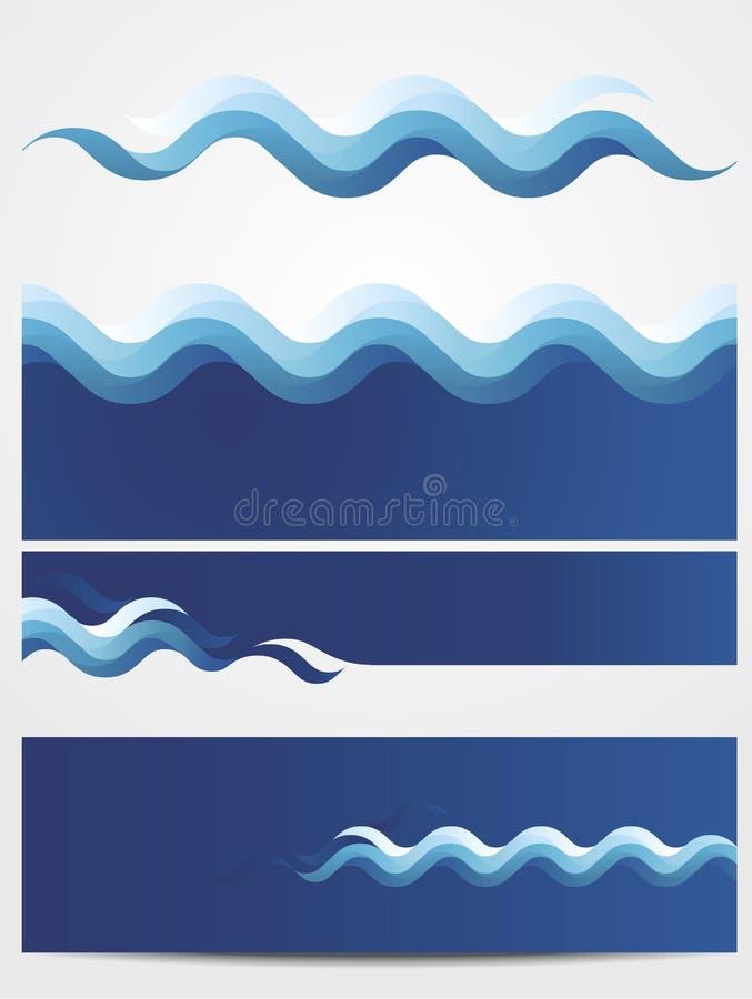 De golven van het water royalty-vrije stock foto's
