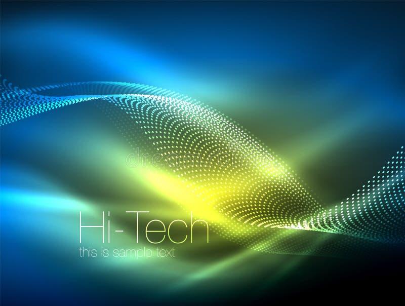 De golven van de neonrook vector illustratie
