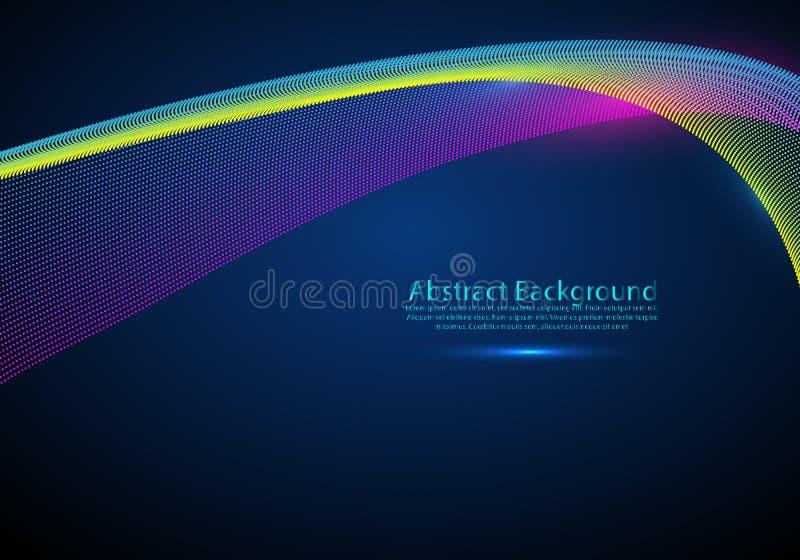 De golven van de neonrook, vector stromende motieachtergrond royalty-vrije illustratie