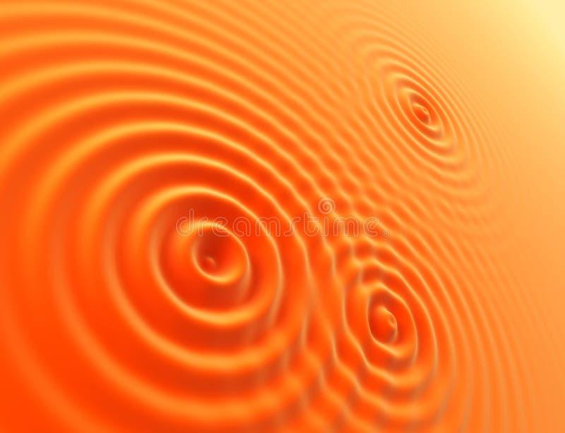 De golven van sinaasappelen stock illustratie