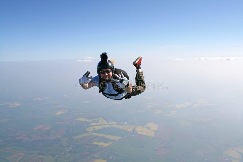 De golven van Skydiver bij de cameraman royalty-vrije stock fotografie