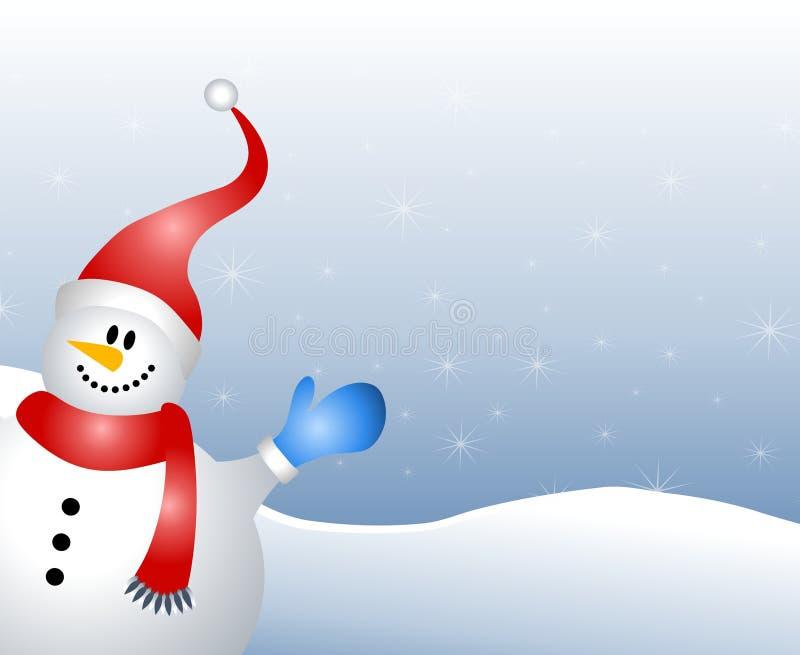 De Golvende Achtergrond van de sneeuwman vector illustratie