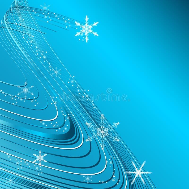 De golvende elegante vector van Kerstmis royalty-vrije illustratie