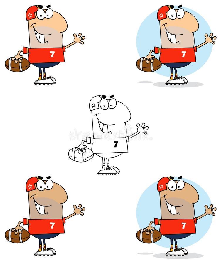 De golvende mens van de voetbal stock illustratie