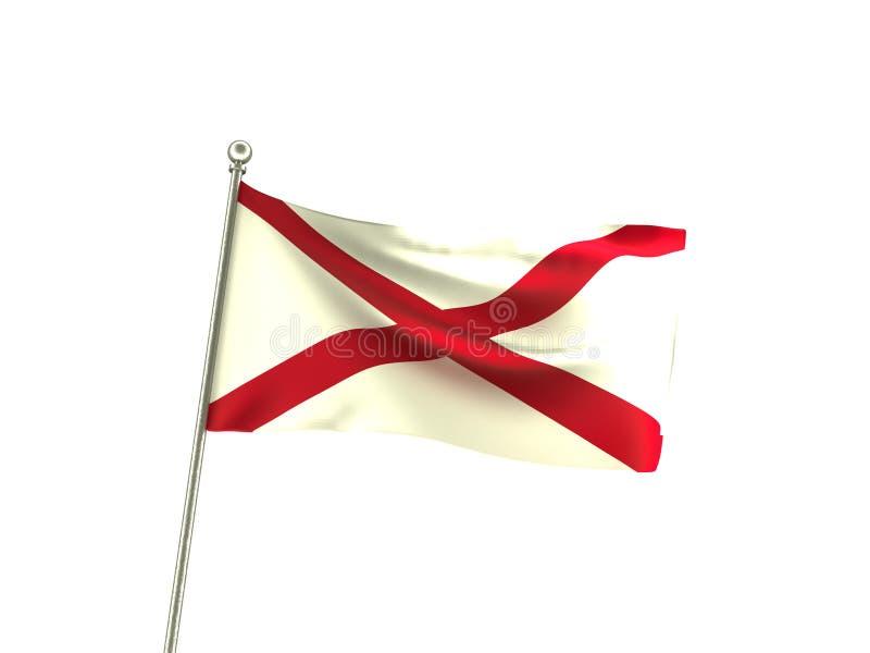 De golvende Vlag van Alabama vector illustratie