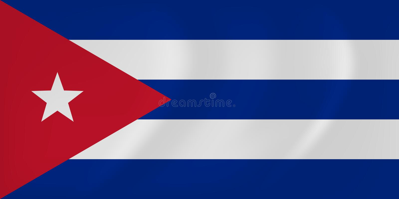 De golvende vlag van Cuba vector illustratie