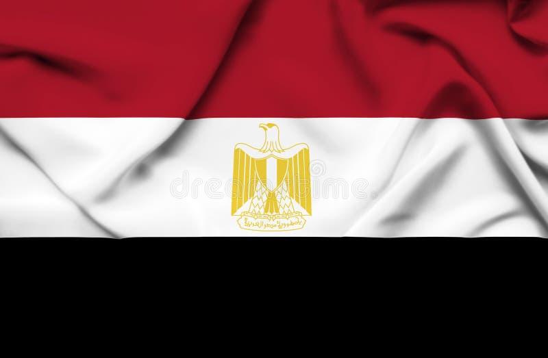De golvende vlag van Egypte vector illustratie