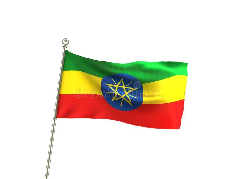 De golvende Vlag van Ethiopië royalty-vrije illustratie