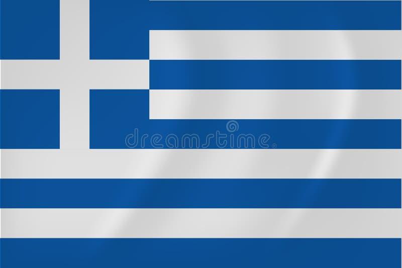 De golvende vlag van Griekenland vector illustratie
