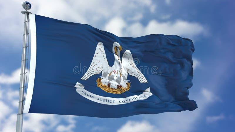 De golvende vlag van Louisiane royalty-vrije stock afbeeldingen