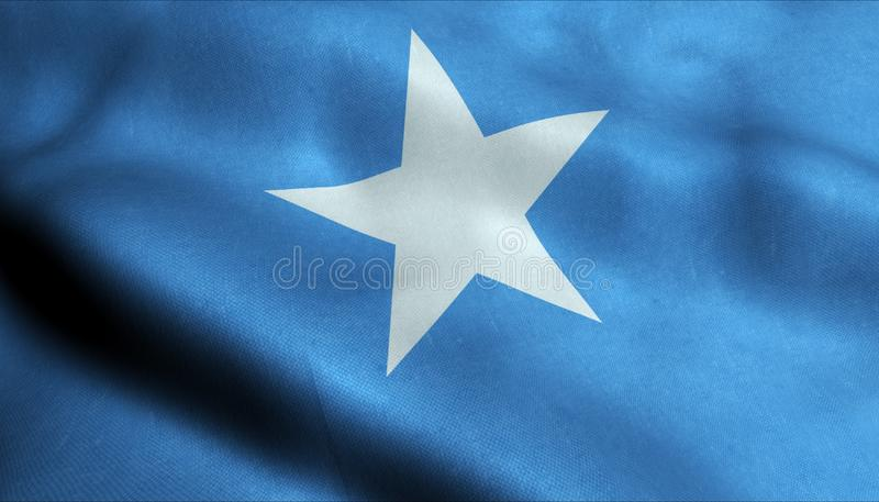 De Golvende Vlag van Somalië in 3D stock illustratie