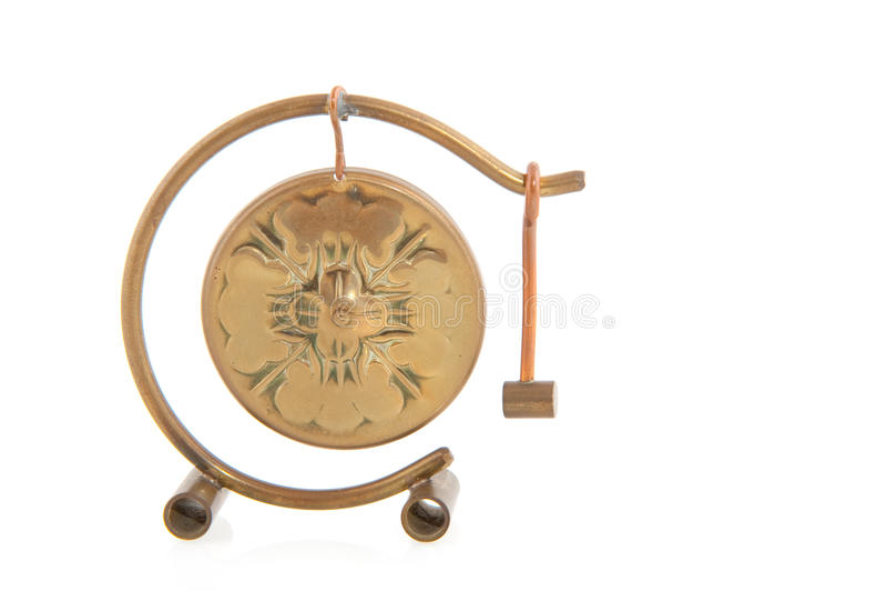 De gong van het koper stock afbeeldingen