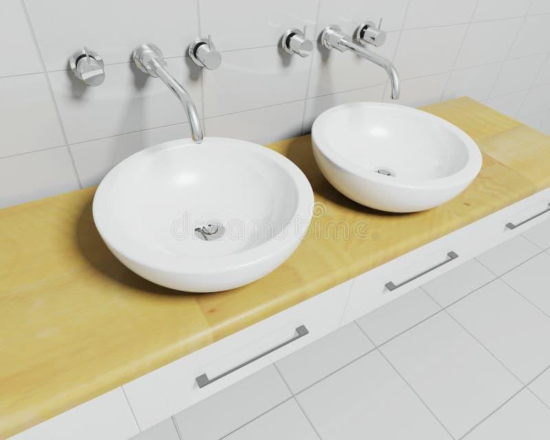 De gootstenen van de badkamers vector illustratie