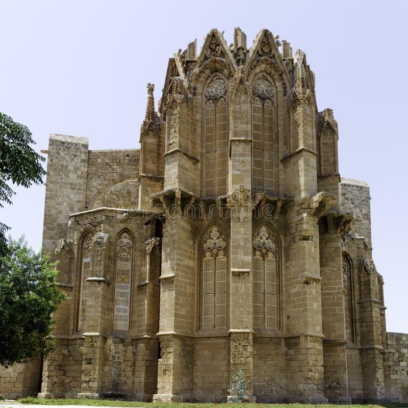 De gotische Kathedraal van Famagusta, Noord-Cyprus stock fotografie