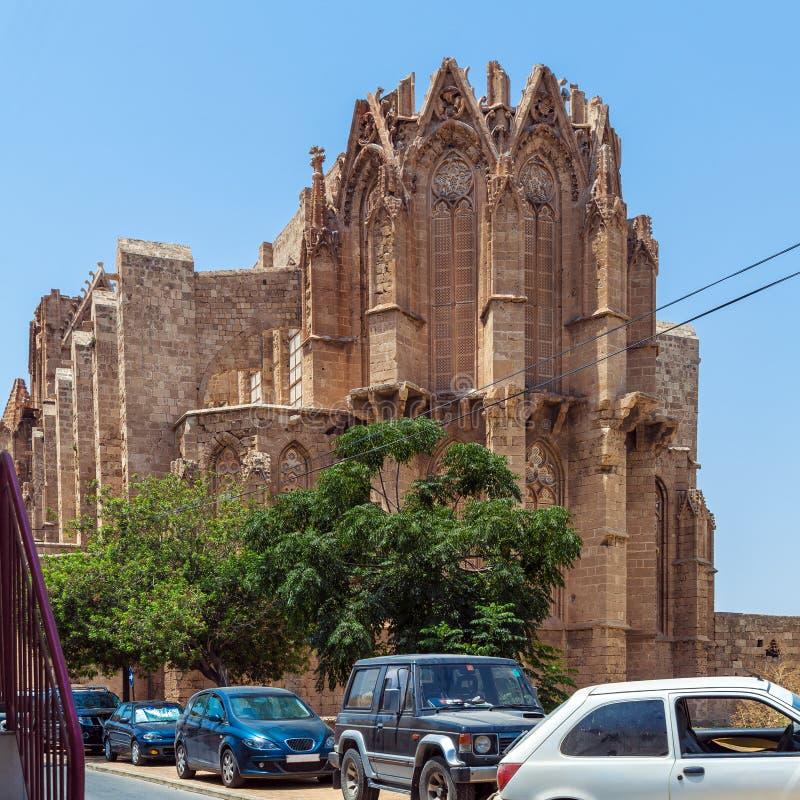 De gotische Kathedraal van Famagusta, Noord-Cyprus royalty-vrije stock afbeelding