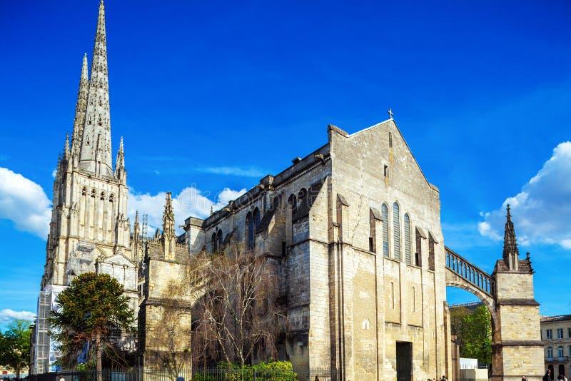 De gotische kathedraal van Heilige Andre, Bordeaux stock foto's