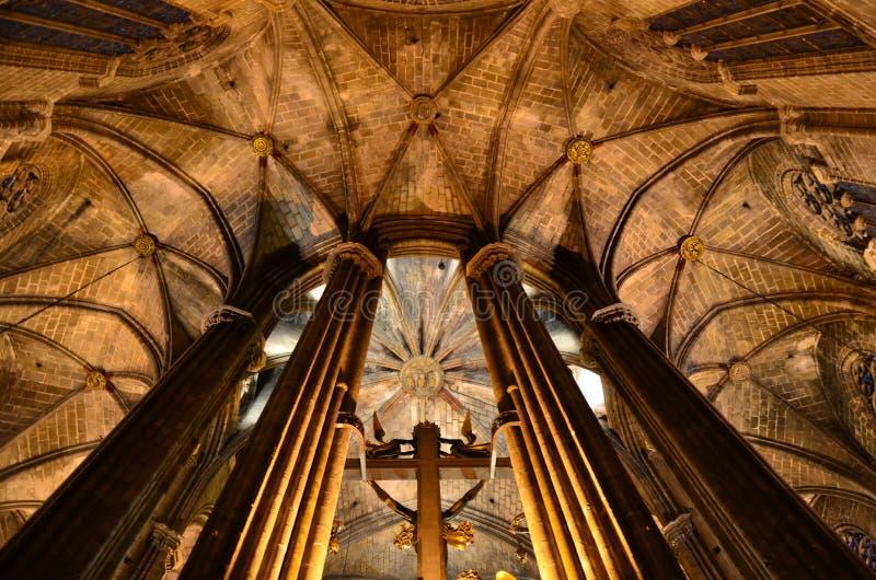 De gotische kathedraal van kerstmaneulalia, Barcelona stock afbeelding