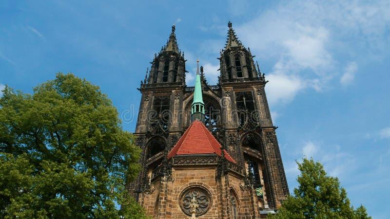 De Gotische kathedraal van Meissen, bouwde vele jaren na Midd royalty-vrije stock afbeelding