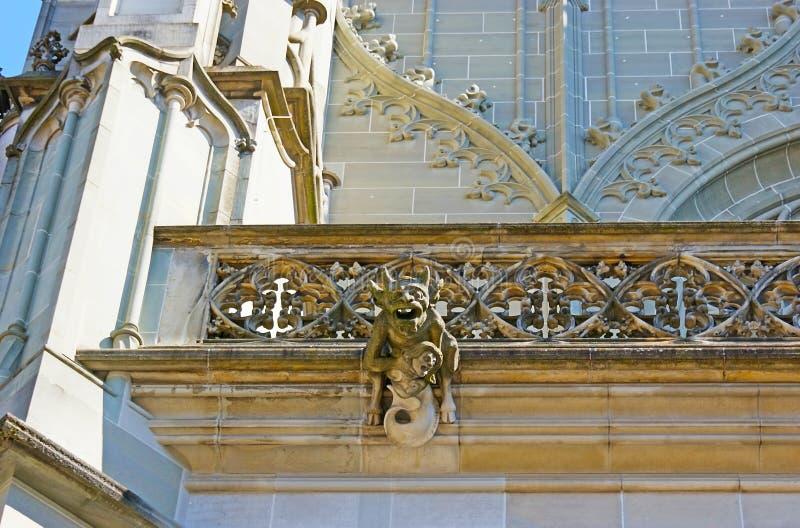 De gotiska dekorerna av Berne Munster arkivfoton