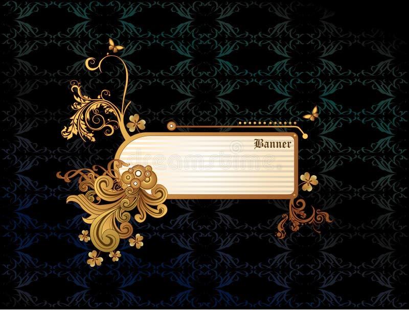 De gouden abstracte vector van de banner royalty-vrije illustratie