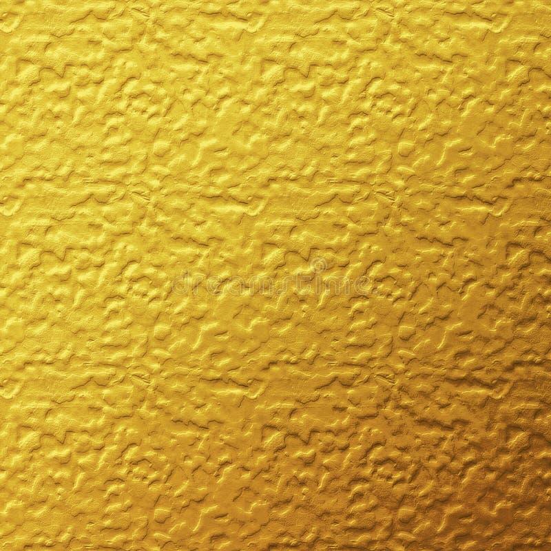 De gouden achtergrond van de folietextuur stock afbeelding