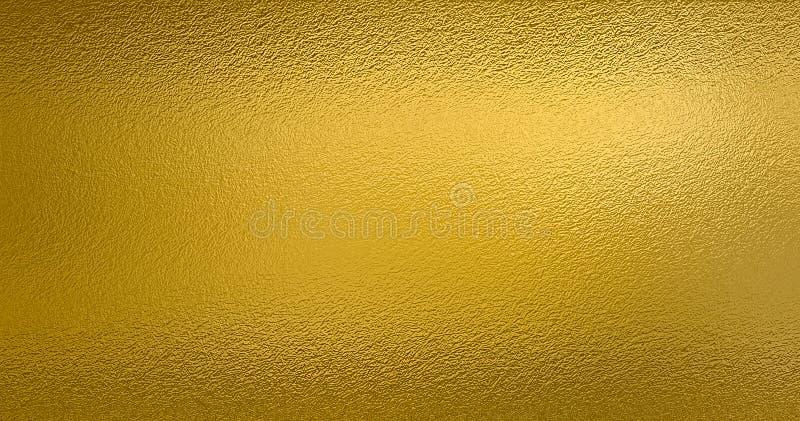 De gouden achtergrond van de folietextuur royalty-vrije stock afbeelding