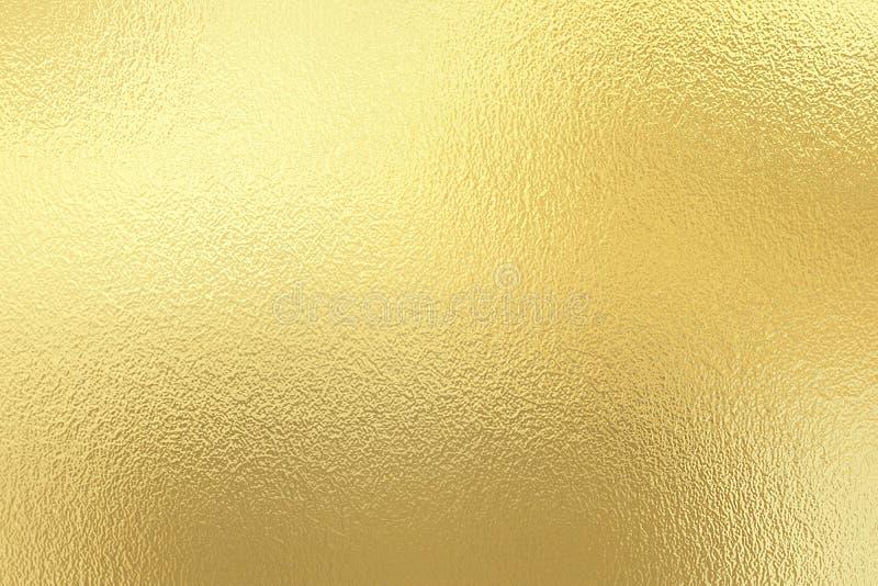 De gouden achtergrond van de folietextuur stock foto's