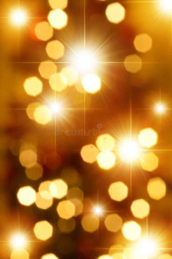 De gouden Achtergrond van Strars en Bokeh- royalty-vrije illustratie