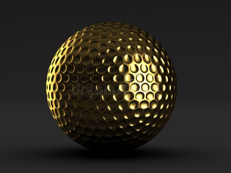 De gouden bal van het golf stock illustratie