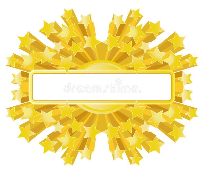 De gouden banner van de Ster royalty-vrije illustratie
