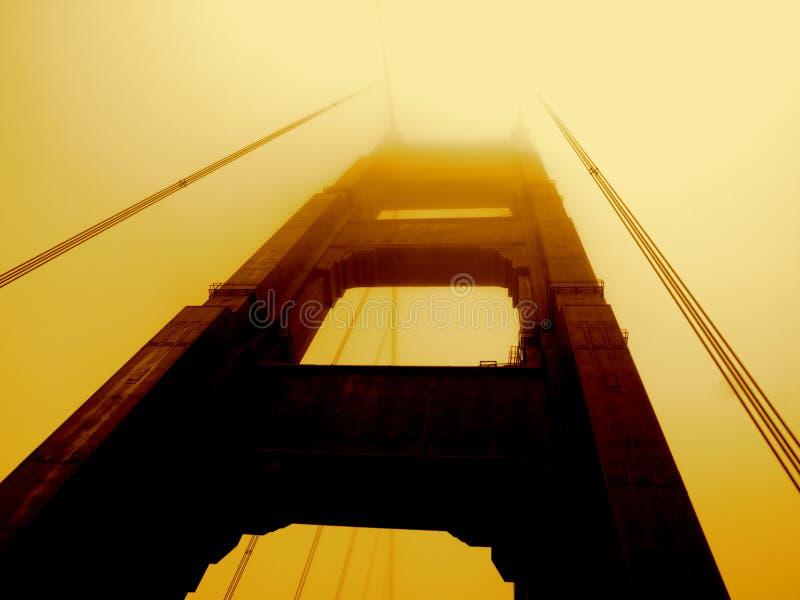 De gouden Brug van de Poort stock fotografie