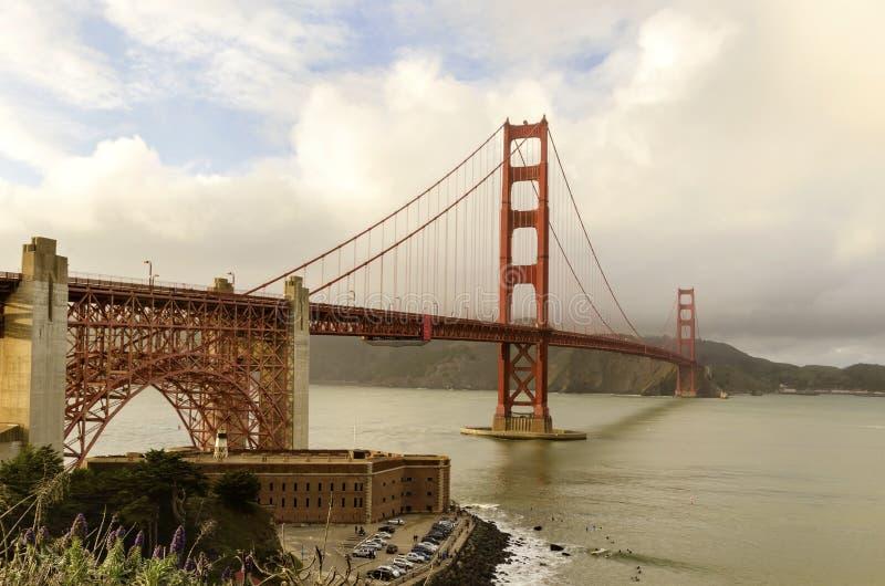De gouden brug van de Poort, San Francisco, Californië stock foto's
