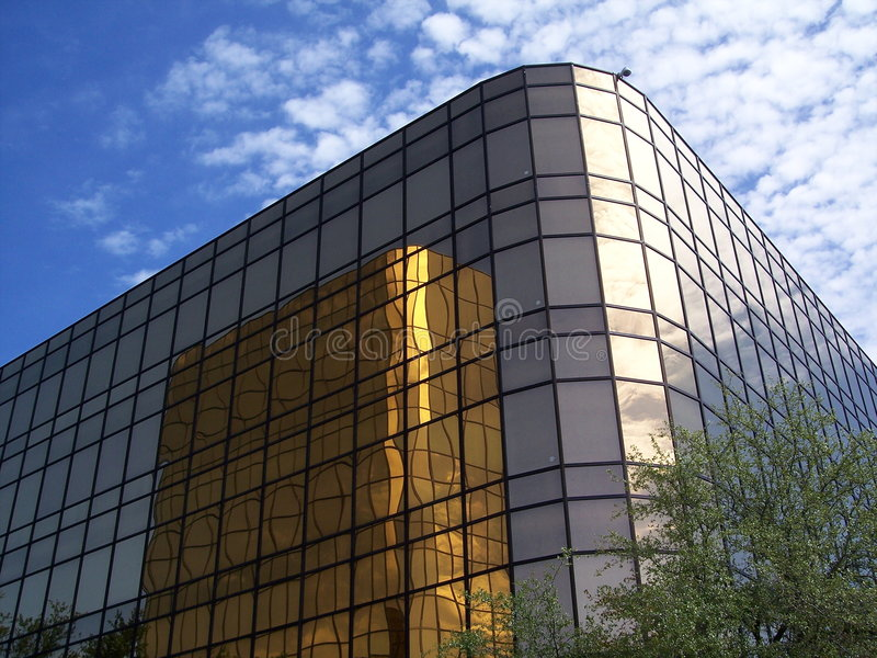 De gouden bureaubouw 3 royalty-vrije stock fotografie