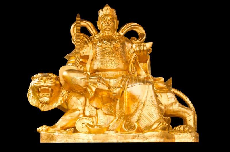 De gouden Chinese God van het Geld van de Welvaart royalty-vrije stock foto